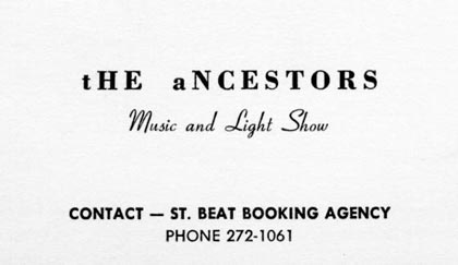 Ancestors business card - front