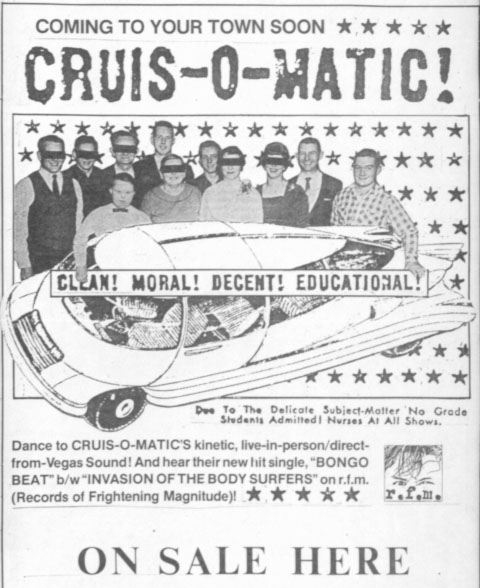 Cruis-O-Matic promo poster -- designed by Tom Patterson