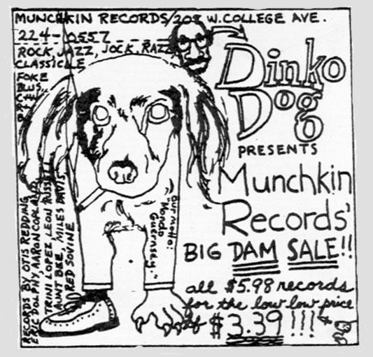 Munchkin Records advertisement -- designed by Tom Patterson